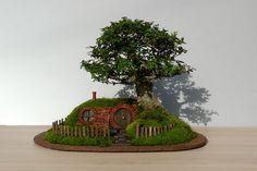 Miniature Hobbit Home: Bag End Bonsai Trayscape   ICreatived