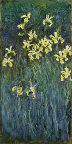 Claude Monet (Paris, 1840 - Giverny, 1926) : Yellow Irises