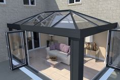 Find an Ultrasky roof and create a lantern roof or orangery roof that meets your design needs. Look at our lantern conservatory roof pictures for inspiration. Modern Conservatory, Conservatory Design, Conservatory Extension, Orangery Extension Kitchen, Conservatory Kitchen, Garden Room Extensions, House Extensions, Orangerie Extension, Orangery Roof