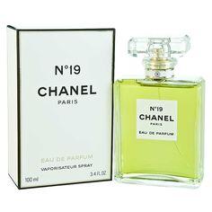 """19"" by Chanel (1971). Perfume notes include bergamot, cedarwood, galbanum, hyacinth, jasmine, leather, muguet, musk, narcissus, neroli, oak moss, rose, sandal, & ylang-ylang."