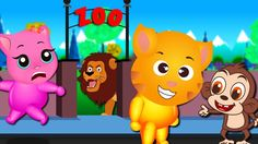 Finger Family Funny Cats | Funny Cats visits Zoo finger family Rhyme for Kids
