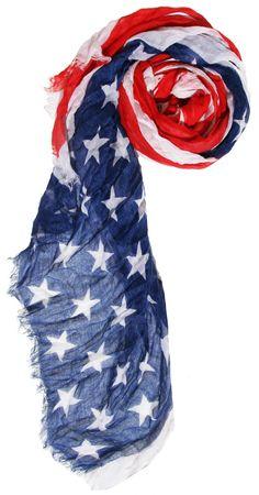 USA Flag Printed Scarf