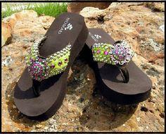 Margarita Funky Flip Flop-Margarita, Rhinestone, Swarovski, Flip Flop, Leather