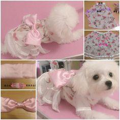 DIY Cute Pink Dog Dress