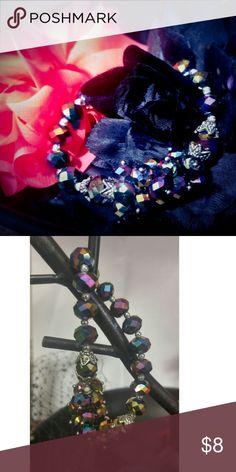 Mardi Gras Holographic Beaded Elastic Bracelet Holographic Beaded Elastic Bracelet Jewelry Bracelets
