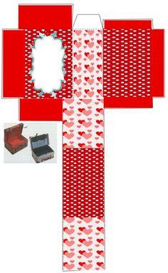 caixa bau Hobbies And Crafts, Diy And Crafts, Paper Crafts, Paper Doll House, Paper Dolls, Printable Box, Diy Gift Box, Origami Box, Woman Bedroom