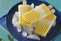 Paletas Heladas de Yogurt de Mango