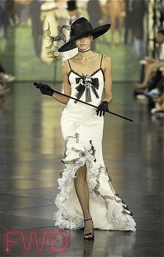 My Fair Lady, meet Ralph Lauren.  Where did the model's other leg go, though?
