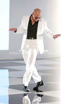 Pitbull. Ladies go crazy for a sharped dressed man> I bet he smells good too.