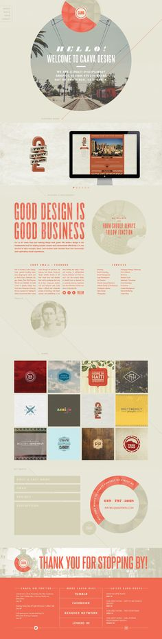 Caava Design Website Redesign and Brand Overhaul by Cody Small - there is a lot to like here.