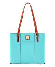 Love this Light Blue Small Lexington Leather Shopper on #zulily! #zulilyfinds