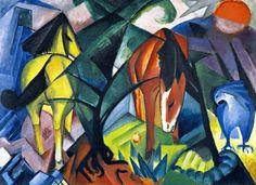 Franz Marc (1880-1916) Horses and Eagle, 1912