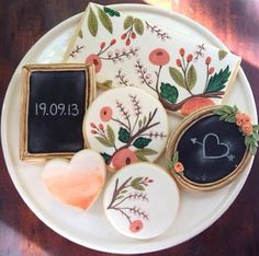 I asked @Anna Elizabeth Cakes to make these sweet lil cookies for a client's wedding last week! lovely to be inspired by the ever lovely Rifle Paper Co. <3