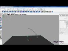 Tutorial: Basic Particle systems in Maya - Making a water fountain Part 1 - YouTube