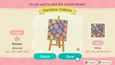 Animal Crossing 3ds, Animal Crossing Villagers, Happy Home Designer, Motifs Animal, Types Of Animals, Wall Patterns, Custom Design, The Creator, Gaming