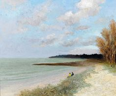 """dyf marcel the beach of carnac 1981 (from <a href=""""http://www.oldpainters.org/picture.php?/24709/category/11484""""></a>)"""