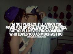 I love deeply.