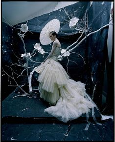 Tim Walker Photography - Stella Tennant in Dior Haute Couture by John Galliano London Uk Vogue Centenary June 2016