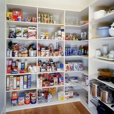 pantry shelving ideas (pay attention to depth and heights)
