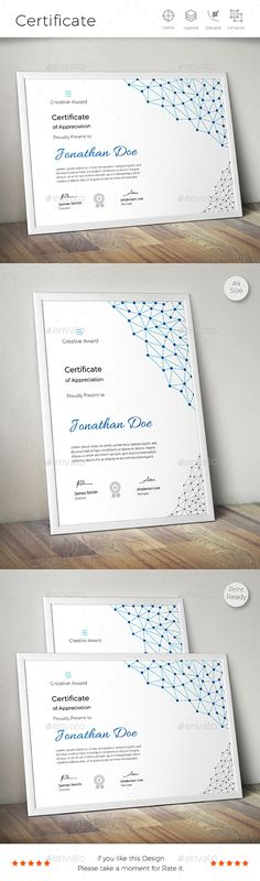 Certificate — EPS Template certificate line design… Id Design, Layout Design, Graphic Design, Certificate Design, Certificate Templates, Identity Design, Brochure Design, Invitation Design, Invitations