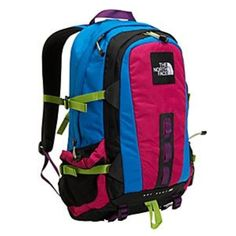 The North Face Hot Shot SE Backpack The North Face Hot Shot SE Laptop Backpack. Rage Blue Aster/Pop Pink. Amazing backpack! I used it for a year in college and it still looks brand new. There is a ton of room and it's very comfortable! I'm asking what I am because I have people who have offered me a lot for it in person. Rare backpack North Face Bags Backpacks