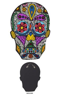 Day of the dead skull mosaic