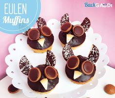 BackGaudi: Eulen Muffins Muffins, Cupcakes, Creative, Good Food, Place Card Holders, Sugar, Cookies, Desserts, Creative Cakes