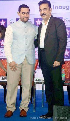 Aamir Khan and Kamal Haasan come together to inaugurate FICCI Frames 2015- view pics! #AamirKhan   #KamalHaasan