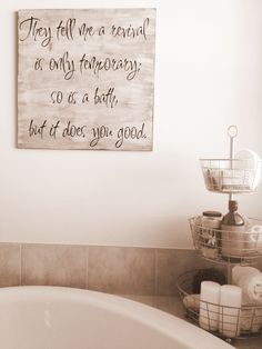 Awesome Small Bathroom Wall Decor Ideas With Square Shape Plat Panels Letter