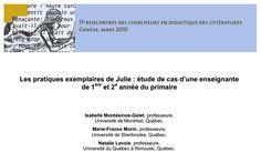«Les pratiques exemplaires de Julie» Julie, Lectures, Boarding Pass, Youth