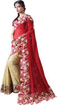 04e5e4b8f7 Chirag Sarees Embriodered Bollywood Georgette Sari - Buy Red Chirag Sarees  Embriodered Bollywood Georgette Sari Online