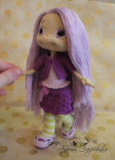 Лаванда по описанию Ани Садовской (zovutka) - Мои игрушки - Галерея - Форум почитателей амигуруми (вязаной игрушки) ♡