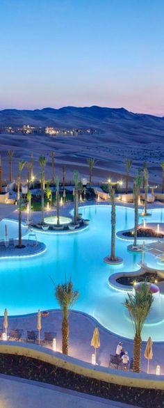 Abu Dhabi looks like a tidal wave engulfing the city