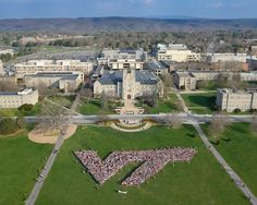 Best picture of Burruss Hall with the mountains I've seen.