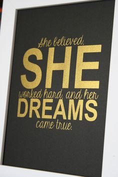 Gold Inspirational quote print