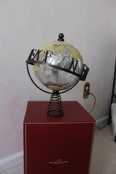 pottery barn christmas peace on earth globe tree topper new in box