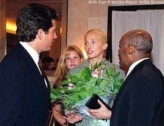 John F.. Kennedy, Jr. and Carolyn Bessette Kennedy. San Francisco at Delancey restaurant, 1997