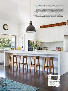 Homes: Eternal sunshine. Kitchen. Built by Scott's Country Look Kitchens, the classic kitchen offers both style and practicality. Vinyl wrap...