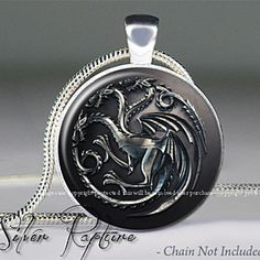 Targaryen Dragon Game of Thrones Inspired Pendant Silver Necklace Daenerys by ChicBridalBoutique on Opensky