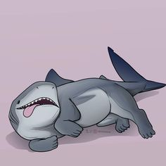 Tagged with aww, sharkpup, nekoama; Sharkpups by The art of Ama Magical Creatures, Fantasy Creatures, Animal Drawings, Cute Drawings, Shark Drawing, Shark Art, Cute Shark, Alien Art, Fantasy Art