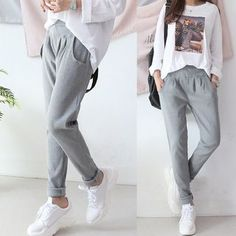 closet inspo Seoul Fashion - Baggy-Fit Sweat Pants Wonderful Wedding Favors and Gifts Receives Highe Seoul Fashion, Fashion Week, Fashion Pants, Fashion Outfits, Cute Sweatpants Outfit, Sweatpants Style, Baggy Pants Outfit, Baggy Sweatpants, Lazy Outfits