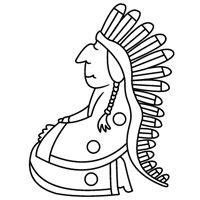 Kiddoland: Kolorowanka Indianin
