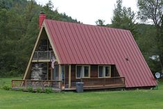 Architecture – Come Hideaway in Lake George, NY Tiny House Cabin, Cabin Homes, Log Homes, A Frame Cabin, A Frame House, Style At Home, Bungalow, Triangle House, Cabin In The Woods