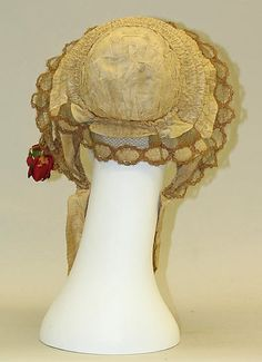 Bonnet, ca. 1840-69, American or European, silk