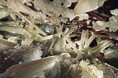 Cueva de los Cristales, Mexico. Photo by Carsten Peter. ❦ CHRYSTALS ❦ semi precious stones ❦❦ CRYSTALS ❦ semi precious stones ❦ Kristallgrotte ❦ Minerals ❦ Cueva de los  Cristales ❦