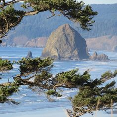Haystack Rock, Cannon Beach, Oregon from Silver Point.