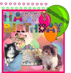 """~ HAPPY BIRTHDAY BRENDA-JOYCE"" by uptowngirlxoxo ❤ liked on Polyvore"