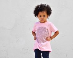 Pastel Pink Kids Tshirt animal group nouns babies by Xenotees, $22.00