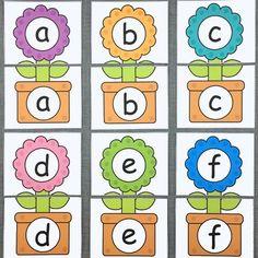 flower alphabet puzzles for preschool and kindergarten