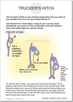 Trucker's Hitch Knot